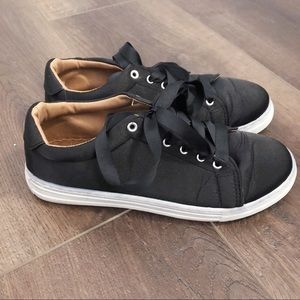 Black sneakers from Tilly's
